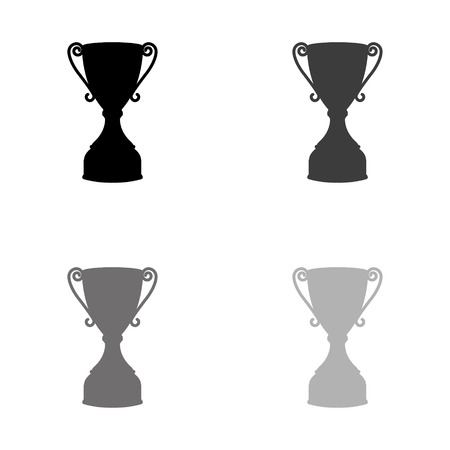 Trophy - black vector icon