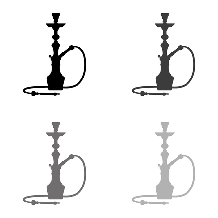 silhouette of a hookah - black vector icon Banque d'images - 124779956