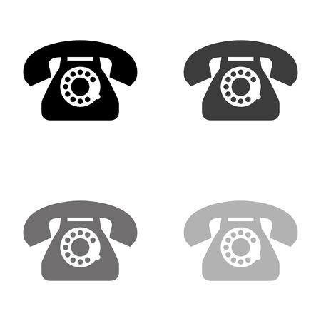 telephone - black vector icon Illustration