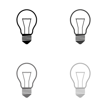 Light bulb - black vector icon Illustration
