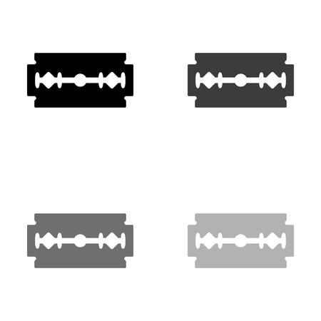 Blade razor - black vector icon