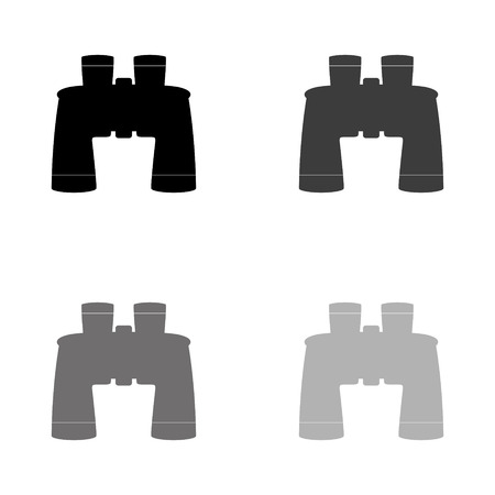 Binocular - black vector icon Illustration