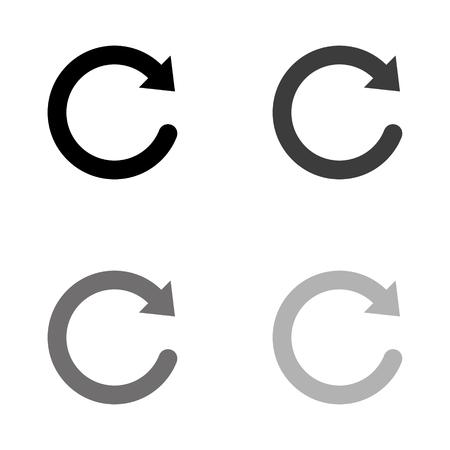 redo symbol - black vector icon