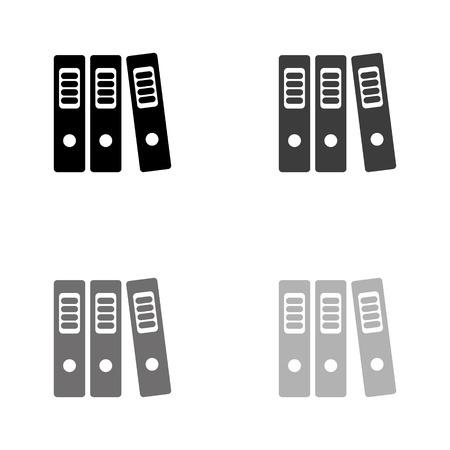 Ordner - schwarzes Vektorsymbol