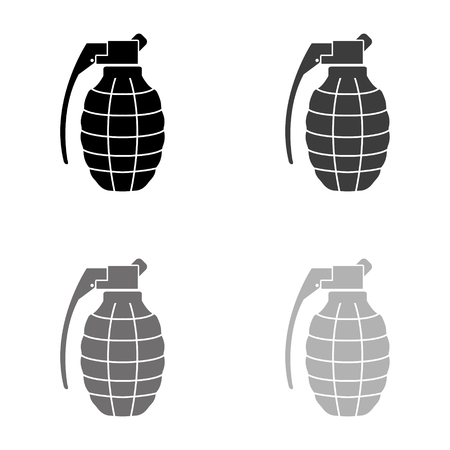 hand grenade - black vector icon
