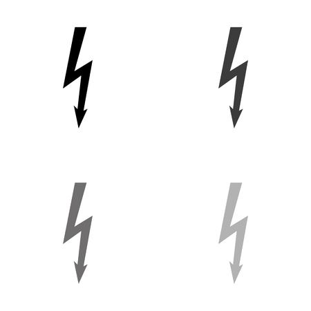 danger - black vector icon Illustration