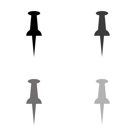 Pushpin - black vector icon Illustration