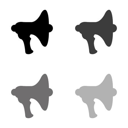 Megaphone; loudspeaker - black vector icon Illustration