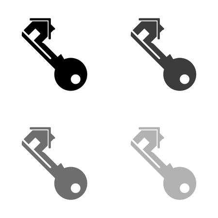 Key - black vector icon