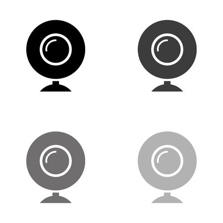 web camera - black vector icon