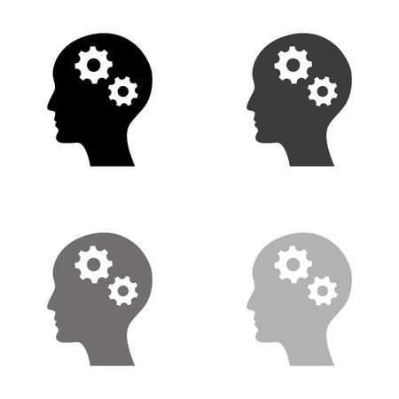 Brain - black vector icon