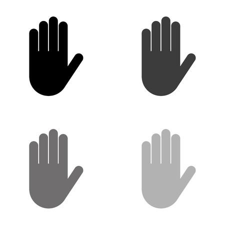 Mano - icono de vector negro Ilustración de vector