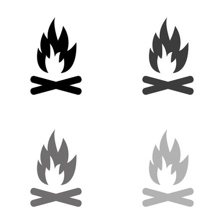 Bonfire - black vector icon