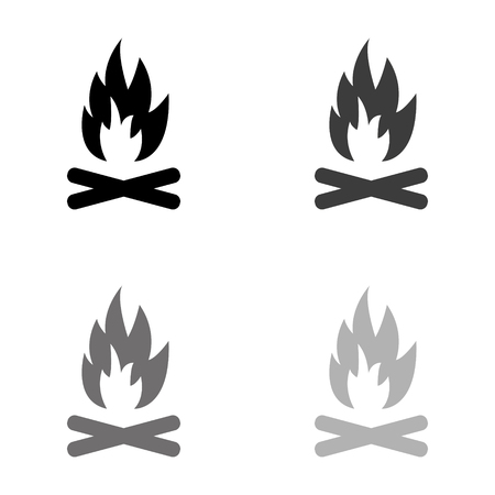 Vreugdevuur - zwarte vector icon