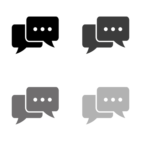 Chat - black vector icon