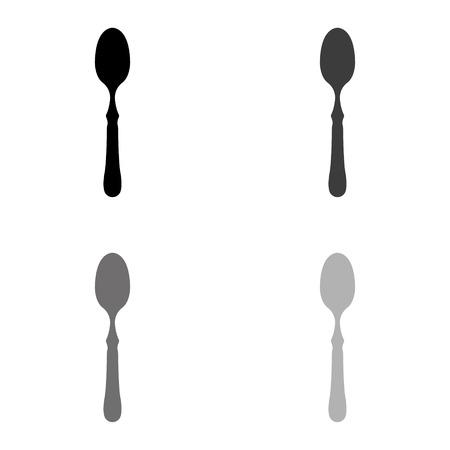 spoon - black vector icon