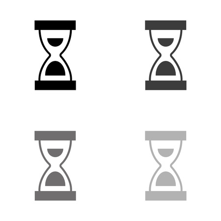Hourglass - black vector icon