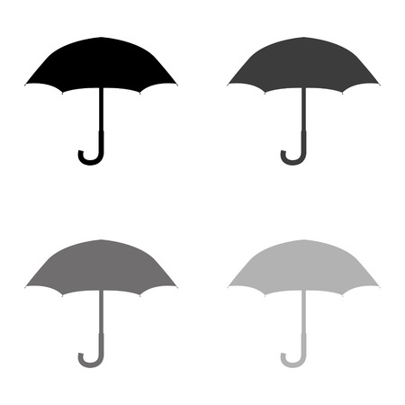 Umbrella - black vector icon
