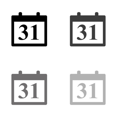 Calendar - black vector icon