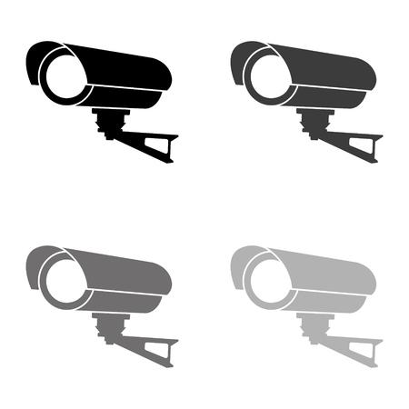 Video surveillance CCTV Camera - black vector icon
