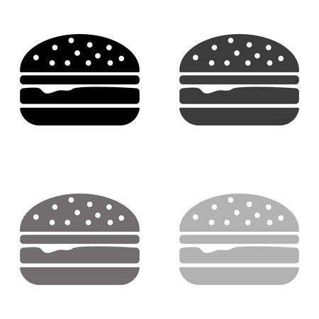 burger - black vector icon Illustration