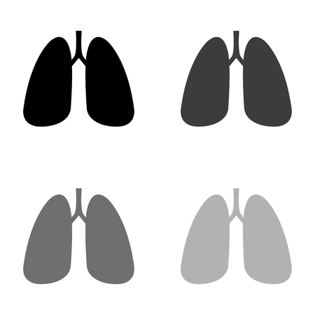 Human lung - black vector icon