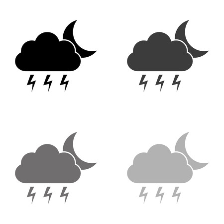 weather icon - black vector icon Illustration