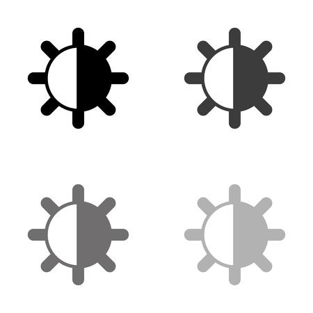 contrasts - black vector icon Ilustração
