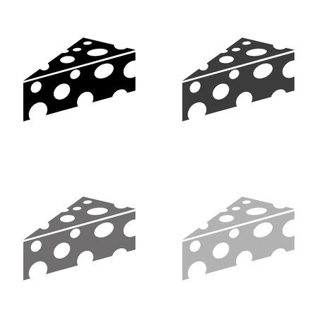cheese - black vector icon