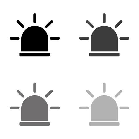 flasher - black vector icon