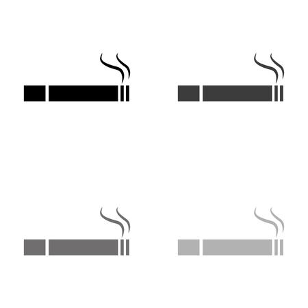 Cigarette - black vector icon