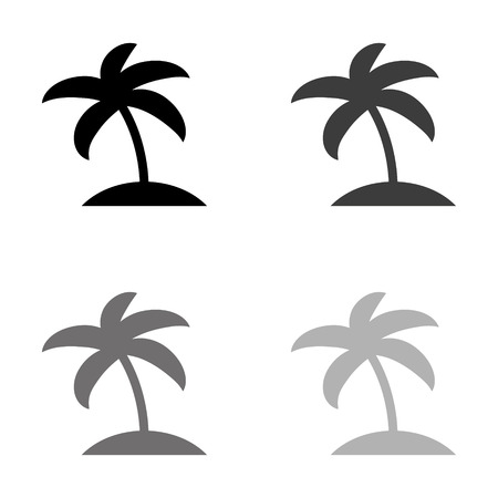 palm tree icon - black vector icon