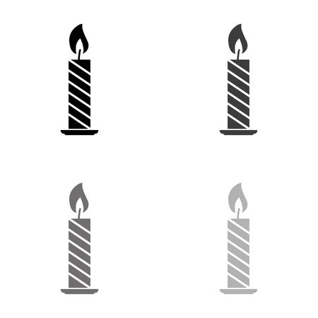 Candle - black vector icon