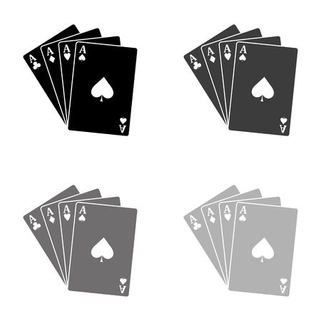 ace - Playing card - black vector icon Ilustração