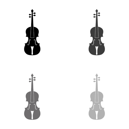 violin - black vector icon Ilustração
