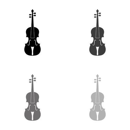 violin - black vector icon