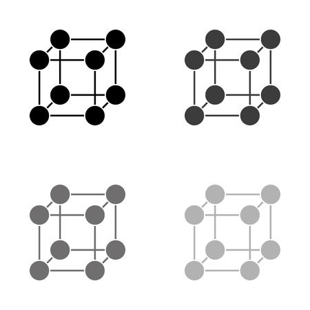 Molecule - black vector icon