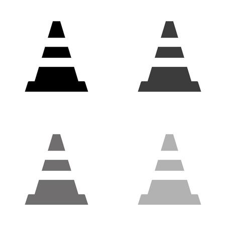 Traffic cone - black vector icon Ilustração