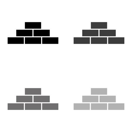 brick - black vector icon