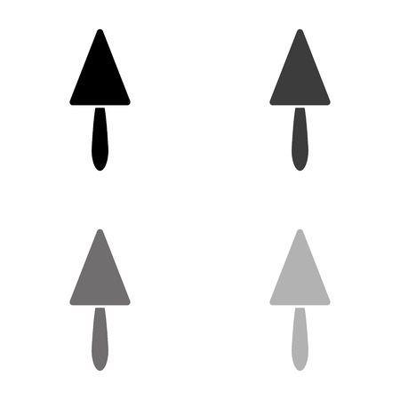 spatula repair - black vector icon Ilustração