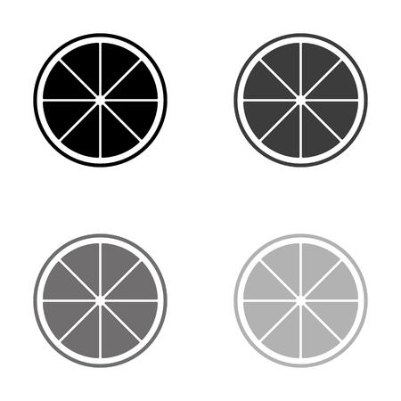 lemon - black vector icon