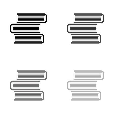 Book icon - black vector icon
