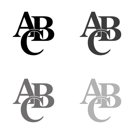 symbols heap of alphabet - black vector icon