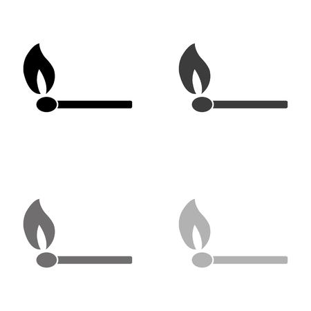 match - black vector icon