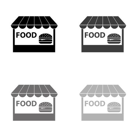 fast food - black vector icon Çizim