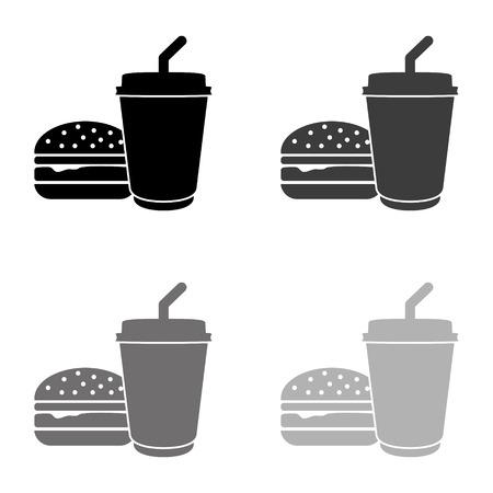 fast food - black vector icon Ilustração