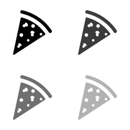 Pizza - black vector icon