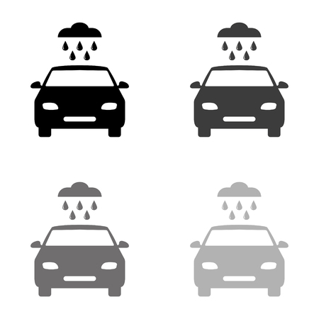 Car wash - black vector icon