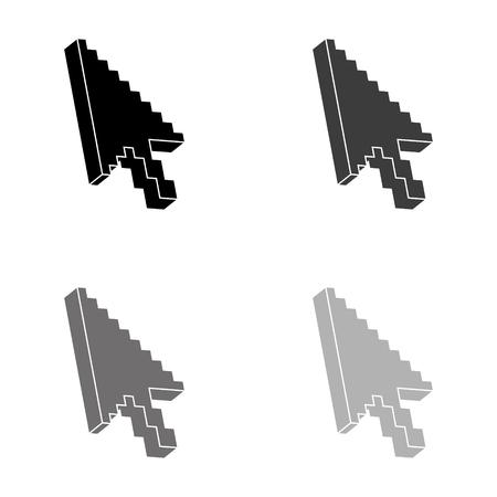 arrow cursor - black vector icon