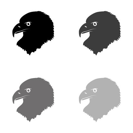 eagle - black vector icon